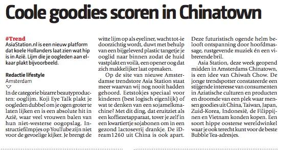Artikel De Pers 18 mei 2011